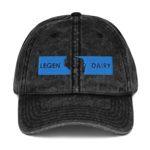 Legendairy Vintage Black Cotton Twill Cap